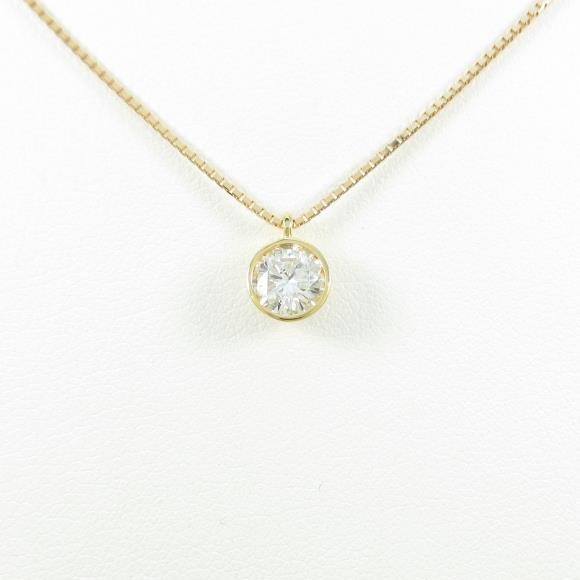 【新品】K18YG ダイヤモンドネックレス 0.524ct・F・SI2・GOOD【新品】 【店頭受取対応商品】