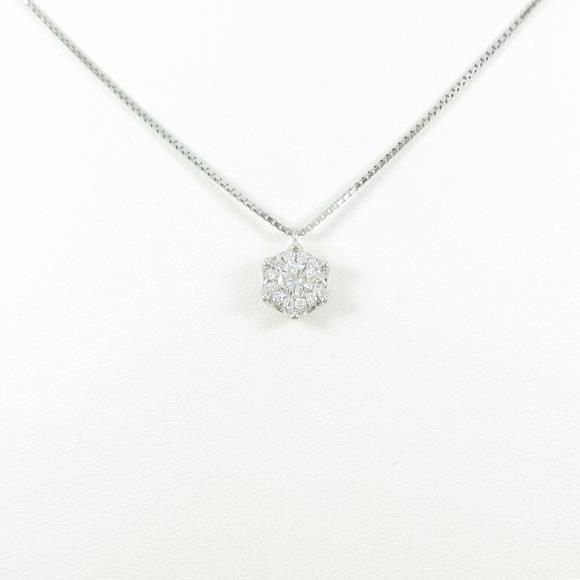 【新品】プラチナダイヤモンドネックレス 0.213ct・E・SI2・VERYGOOD【新品】 【店頭受取対応商品】