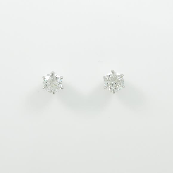 【新品】プラチナダイヤモンドピアス 0.506ct・0.503ct・F・SI2・GOOD【新品】 【店頭受取対応商品】