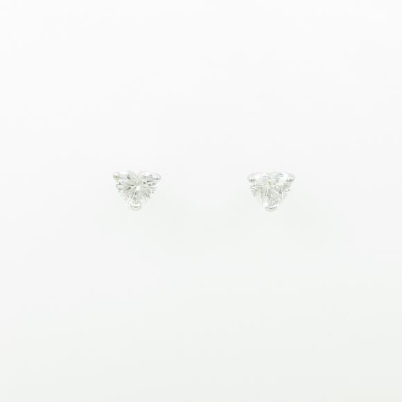 【新品】プラチナダイヤモンドピアス 0.325ct・0.319ct・E・SI1-2・ハートシェイプ【新品】 【店頭受取対応商品】
