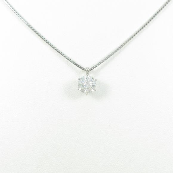 【新品】プラチナダイヤモンドネックレス 0.703ct・E・SI2・EXT【新品】 【店頭受取対応商品】