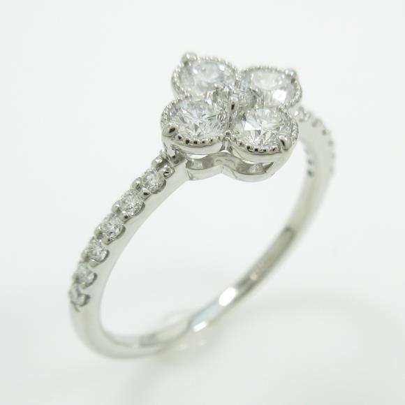 【新品】プラチナダイヤモンドリング 0.387ct・F・SI1-SI2・GOOD【新品】 【店頭受取対応商品】