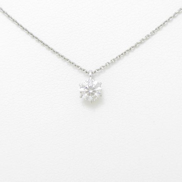 【リメイク】プラチナダイヤモンドネックレス 0.363ct・F・SI2・EXT・H&C【中古】 【店頭受取対応商品】