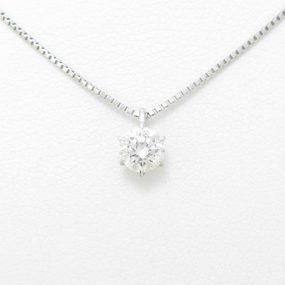 【リメイク】プラチナダイヤモンドネックレス 0.411ct・D・SI1・GOOD【中古】 【店頭受取対応商品】