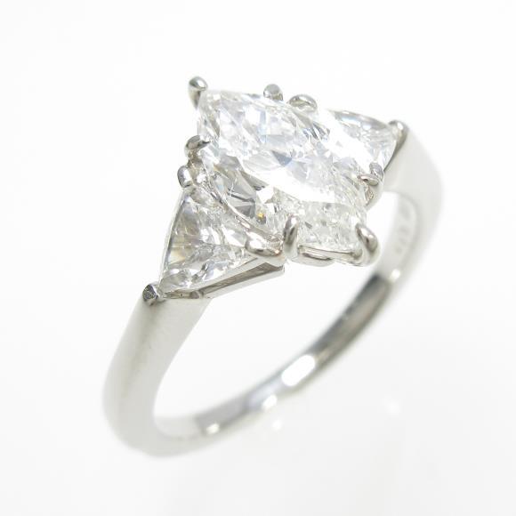 プラチナダイヤモンドリング 1.013ct・F・SI1・マーキスカット【中古】 【店頭受取対応商品】