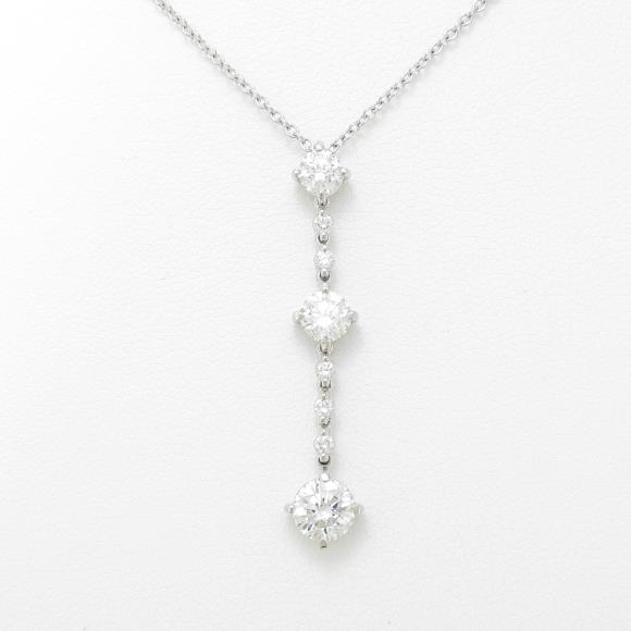 プラチナダイヤモンドネックレス 1.002ct・G-H・SI1・VG-G【中古】 【店頭受取対応商品】