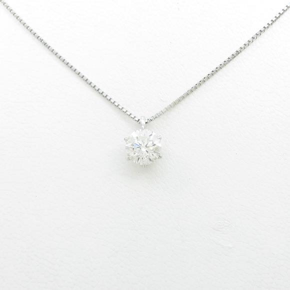 【リメイク】プラチナダイヤモンドネックレス 1.144ct・H・SI2・FAIR【中古】 【店頭受取対応商品】