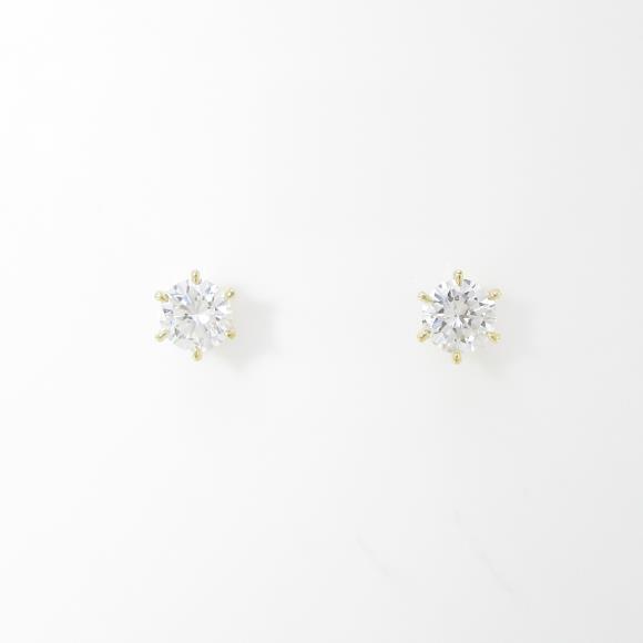 【新品】K18YG ダイヤモンドピアス 0.203ct・0.203ct・F・SI2・VERYGOOD【新品】 【店頭受取対応商品】