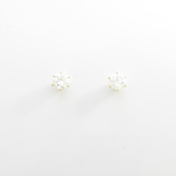 【新品】K18YG ダイヤモンドピアス 0.278ct・0.272ct・G・SI2・GOOD【新品】 【店頭受取対応商品】