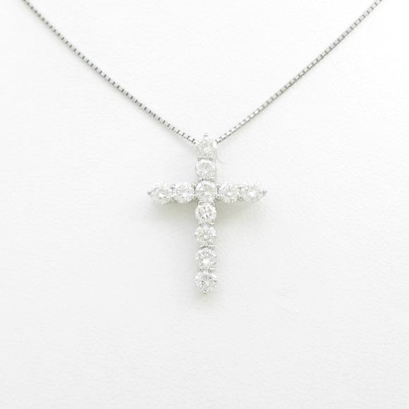【新品】プラチナダイヤモンドネックレス 2.157ct・F-H・VS2-SI2・EXT-G【新品】 【店頭受取対応商品】