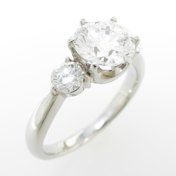 プラチナダイヤモンドリング 1.563ct・D・SI1・GOOD【中古】 【店頭受取対応商品】