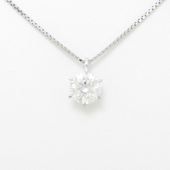 【リメイク】プラチナダイヤモンドネックレス 2.021ct・G・SI1・GOOD【中古】 【店頭受取対応商品】