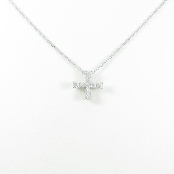 ミキモト クロス ダイヤモンドネックレス【中古】 【店頭受取対応商品】