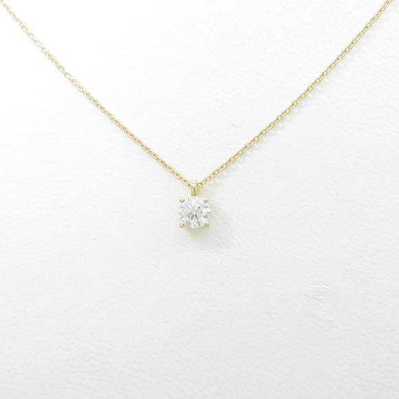 【リメイク】K18YG ダイヤモンドネックレス 0.311ct・H・SI1・VERYGOOD【中古】 【店頭受取対応商品】
