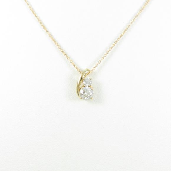 【リメイク】K18YG ダイヤモンドネックレス 0.317ct・H・SI2・EXT【中古】 【店頭受取対応商品】