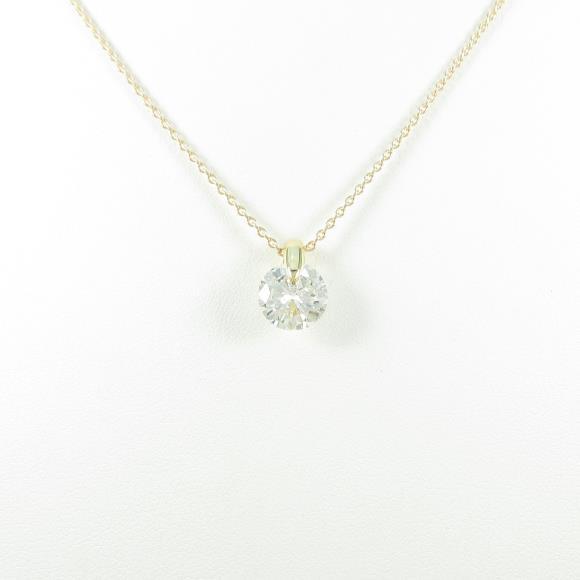【リメイク】K18YG ダイヤモンドネックレス 2.047ct・K・SI2・GOOD【中古】 【店頭受取対応商品】