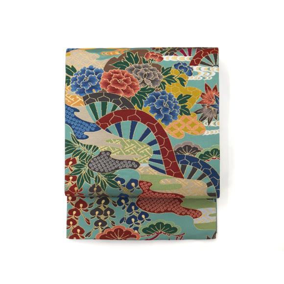 【未使用品】袋帯 白綾苑大庭【中古】