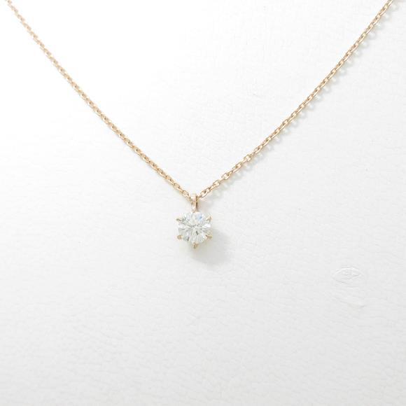 【リメイク】K18PG ダイヤモンドネックレス 0.232ct・J・SI2・EXT【中古】 【店頭受取対応商品】