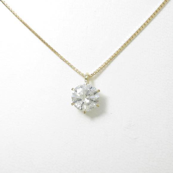 【リメイク】K18YG ダイヤモンドネックレス 1.620ct・I・I1・VERYGOOD【中古】 【店頭受取対応商品】