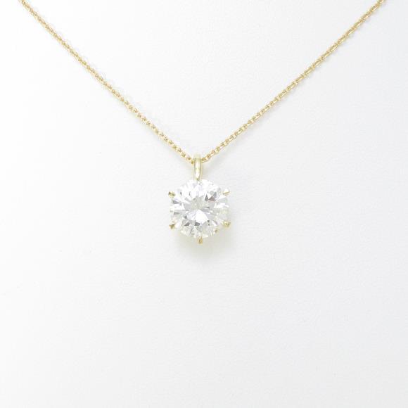 【リメイク】K18YG ダイヤモンドネックレス 2.572ct・K・SI1・VERYGOOD【中古】 【店頭受取対応商品】