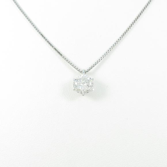 【リメイク】プラチナダイヤモンドネックレス 1.121ct・H・I1・GOOD【中古】 【店頭受取対応商品】