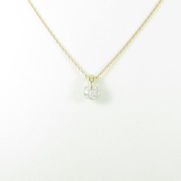 【リメイク】K18YG ダイヤモンドネックレス 0.720ct・H・I1・GOOD【中古】 【店頭受取対応商品】