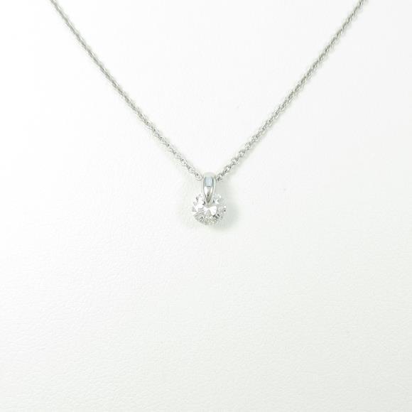 【リメイク】プラチナダイヤモンドネックレス 0.301ct・F・SI2・GOOD【中古】 【店頭受取対応商品】