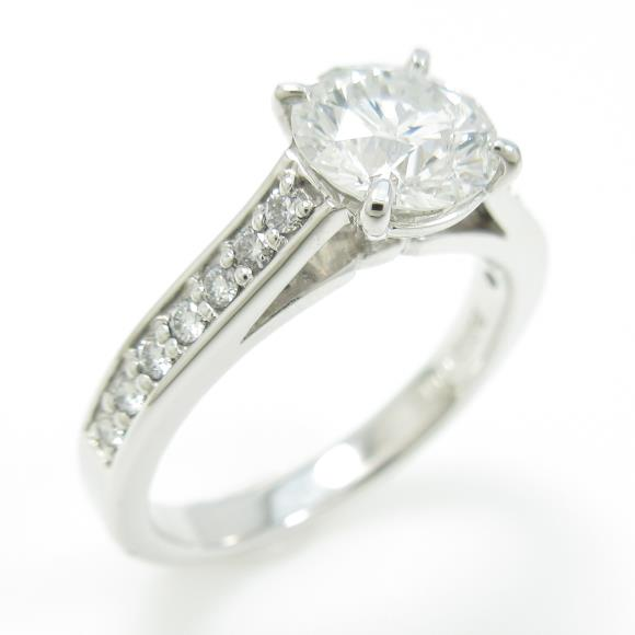 【リメイク】プラチナダイヤモンドリング 1.011ct・F・SI2・GOOD【中古】 【店頭受取対応商品】