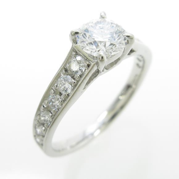 プラチナダイヤモンドリング 0.523ct・D・IF・3EXCELLENT H&C【中古】 【店頭受取対応商品】