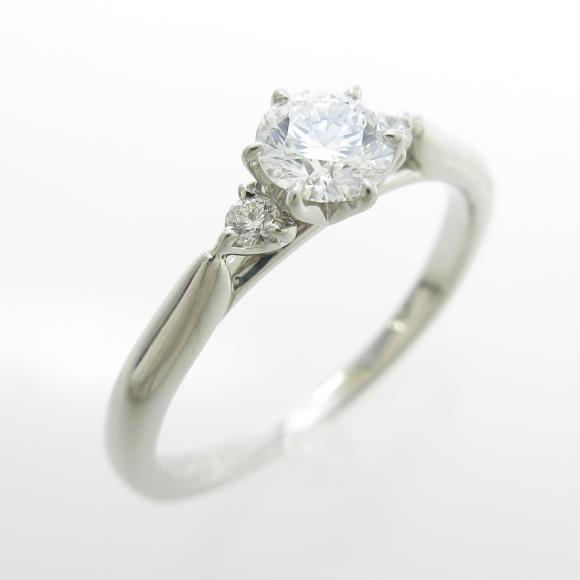 プラチナダイヤモンドリング 0.323ct・D・SI1・3EXCELLENT H&C【中古】 【店頭受取対応商品】