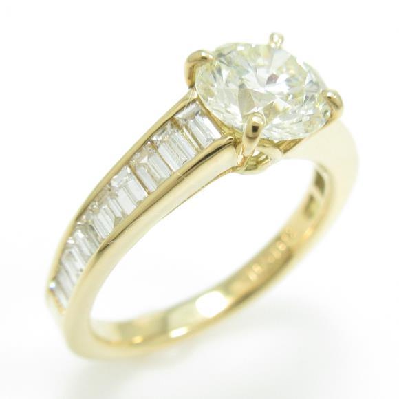 【リメイク】K18YG ダイヤモンドリング 1.091ct・VLY・SI2・VERYGOOD【中古】 【店頭受取対応商品】