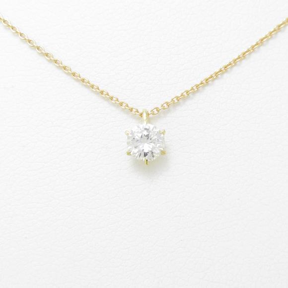 【リメイク】K18YG ダイヤモンドネックレス 0.316ct・G・VS2・GOOD【中古】 【店頭受取対応商品】