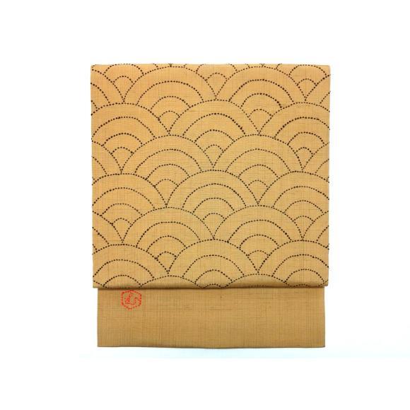 名古屋帯 刺子刺繍【中古】