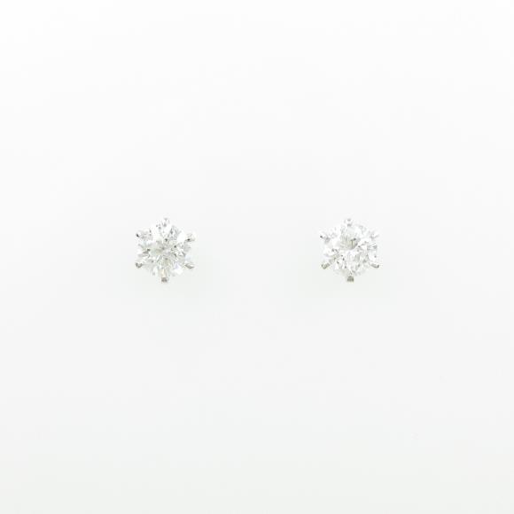 【リメイク】ST/プラチナダイヤモンドピアス 0.320ct・0.327ct・E・SI2・VG-G【中古】