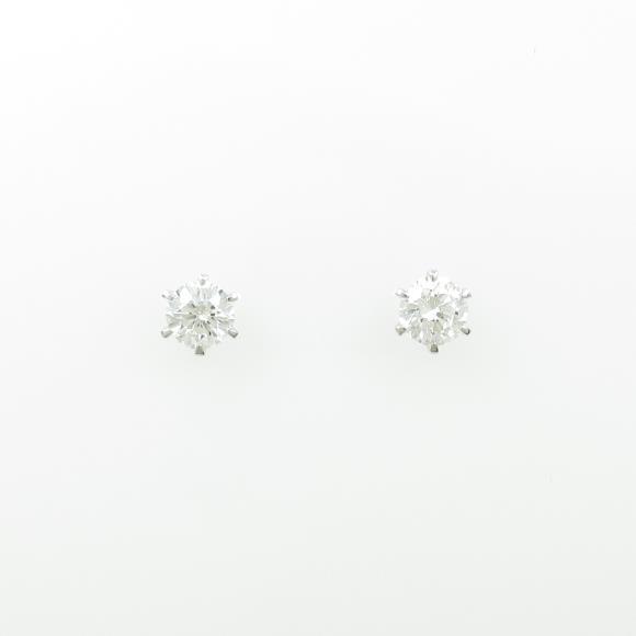 【リメイク】ST/プラチナダイヤモンドピアス 0.316ct・0.318ct・G・VS2・VG【中古】