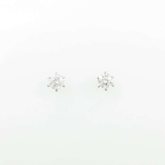 【リメイク】ST/プラチナダイヤモンドピアス 0.403ct・0.441ct・D・VS1・VG【中古】