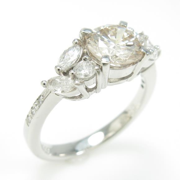 プラチナダイヤモンドリング 1.127ct・VLB・SI2・GOOD【中古】