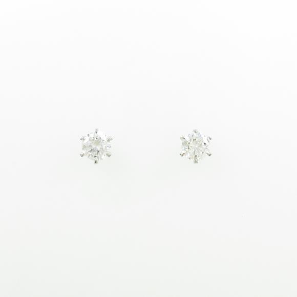 【リメイク】ST/プラチナダイヤモンドピアス 0.305ct・0.318ct・F・VVS2・VG【中古】