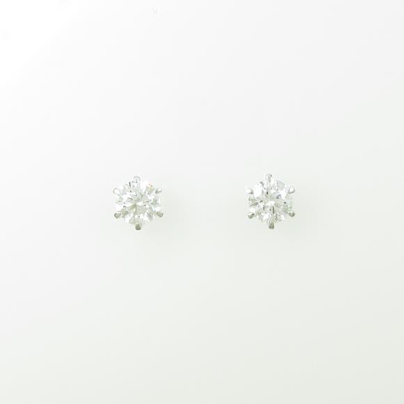 【リメイク】ST/プラチナダイヤモンドピアス 0.504ct・0.506ct・F・SI1-2・VG【中古】
