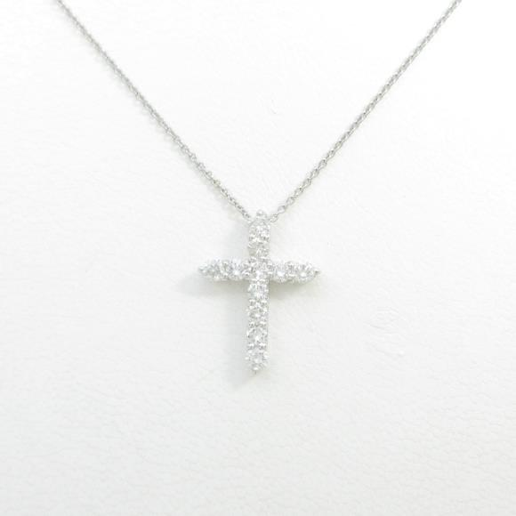 【リメイク】PT クロス ダイヤモンドネックレス【中古】