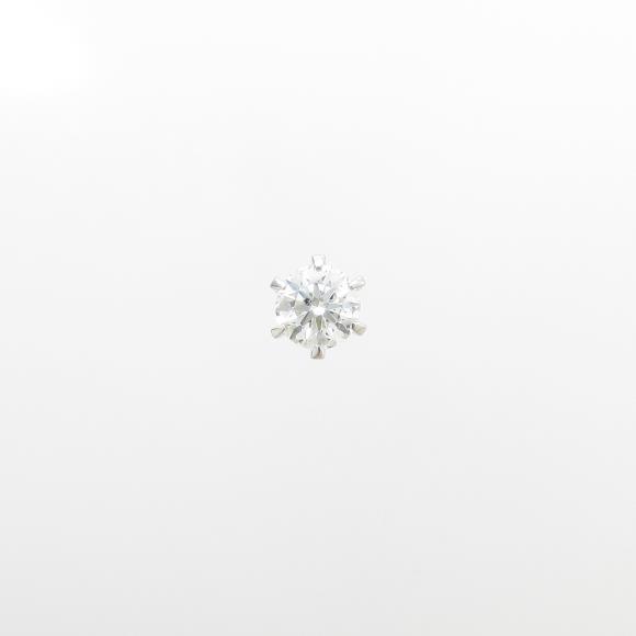 【リメイク】プラチナダイヤモンドピアス 0.313ct・F・SI2・GOOD 片耳【中古】