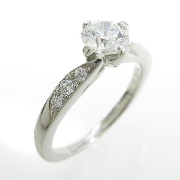 プラチナダイヤモンドリング 0.482ct・G・VVS2・EXCELLENT【中古】
