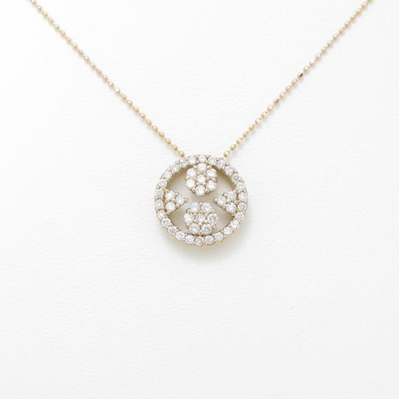 K18PG ダイヤモンドネックレス【中古】