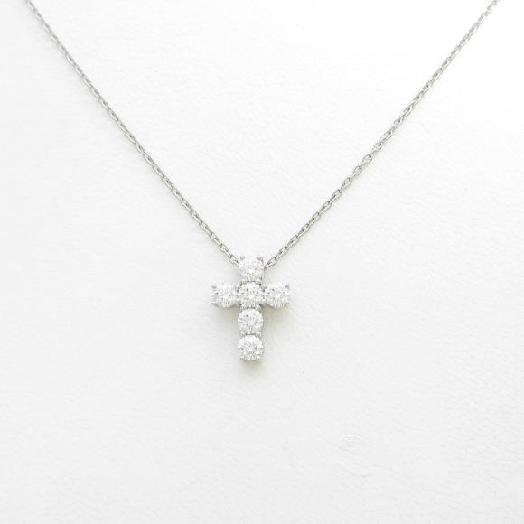 ギメル クロス ダイヤモンドネックレス【中古】