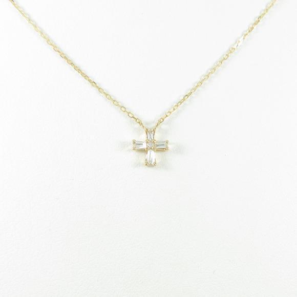 ポンテヴェキオ クロス ダイヤモンドネックレス【中古】