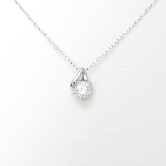 プラチナダイヤモンドネックレス 0.583ct・F・SI2・VERYGOOD【中古】