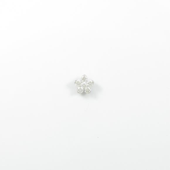 ミキモト フラワー ダイヤモンドピアス 片耳【中古】