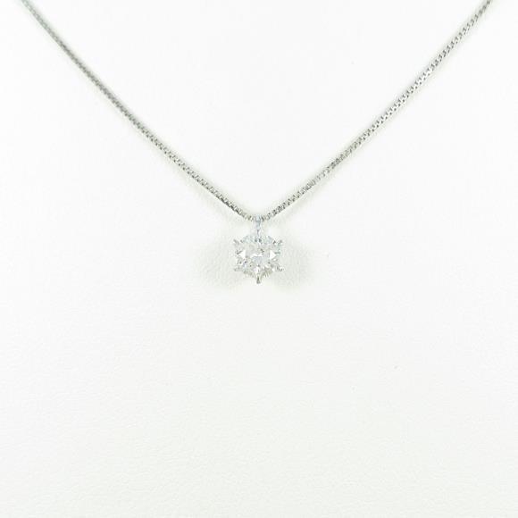 【リメイク】プラチナダイヤモンドネックレス 0.316ct・E・I1・EXT【中古】