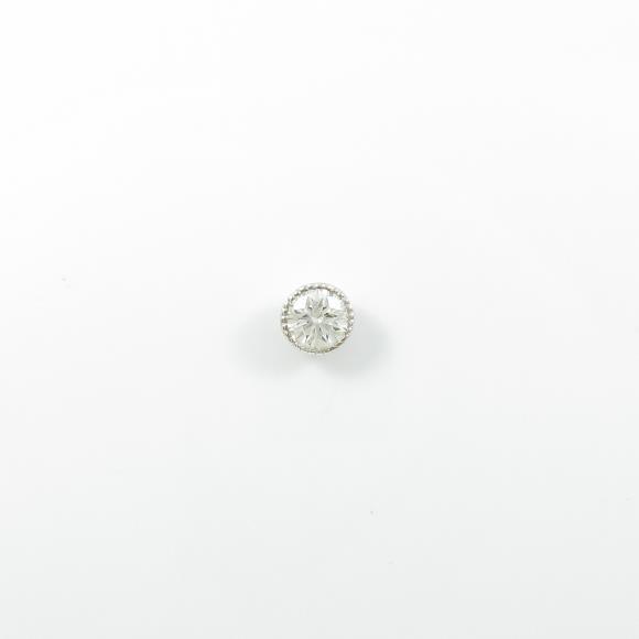 プラチナダイヤモンドピアス 0.332ct・F・SI2・EXT 片耳【中古】