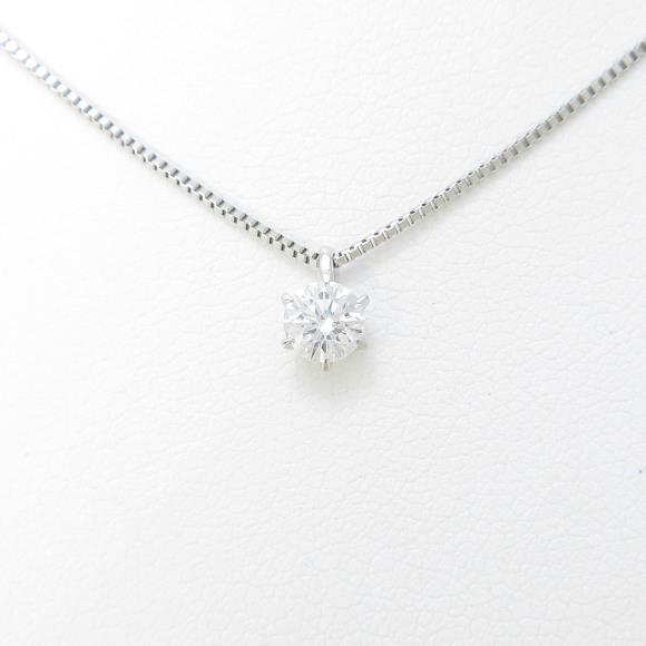 【リメイク】プラチナダイヤモンドネックレス 0.308ct・D・VVS2・VERYGOOD【中古】